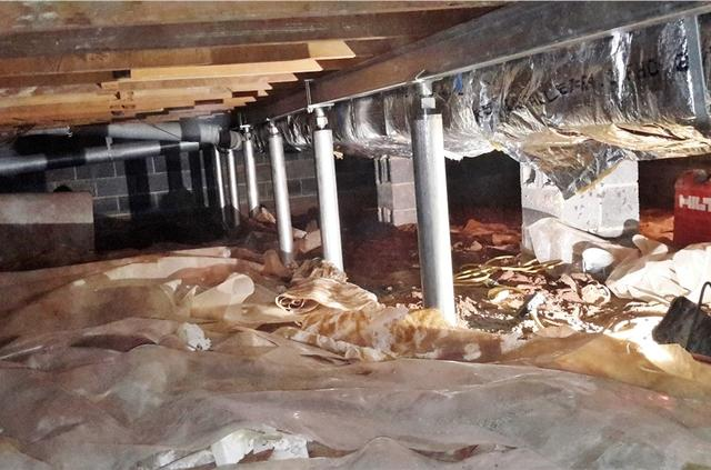 Sagging Crawl Space Beams Installed in Princeton, NJ