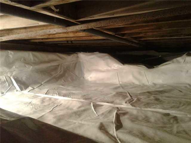 Damp Crawl Space in Long Hill, NJ