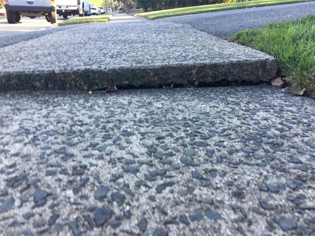 Sinking Sidewalk Slab in South Plainfield, NJ
