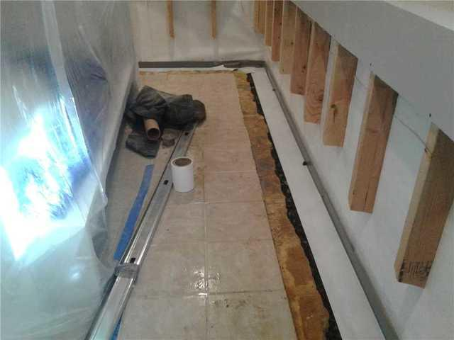 Basement Wall Panel Installation in Hillsborough - Before Photo