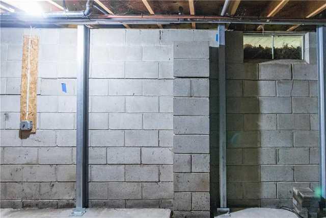 Large Horizontal Cracks in Basement Wall, Jackson, NJ