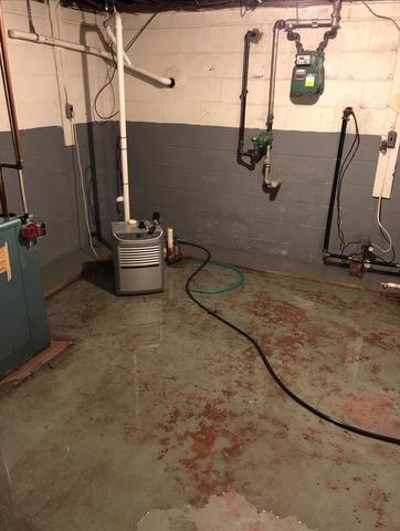Wet Basement in Pennington, NJ Waterproofed