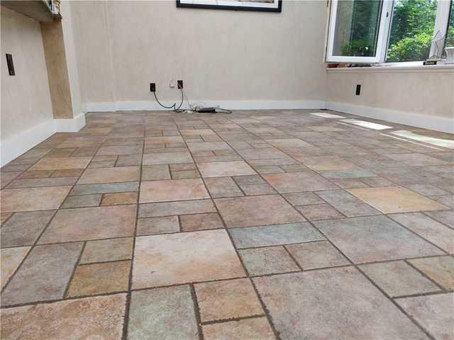 Sun Room Floor leveled with PolyLevel in Midland Park, NJ