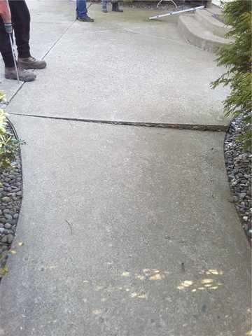 Concrete Sidewalk Raised in Long Valley, NJ