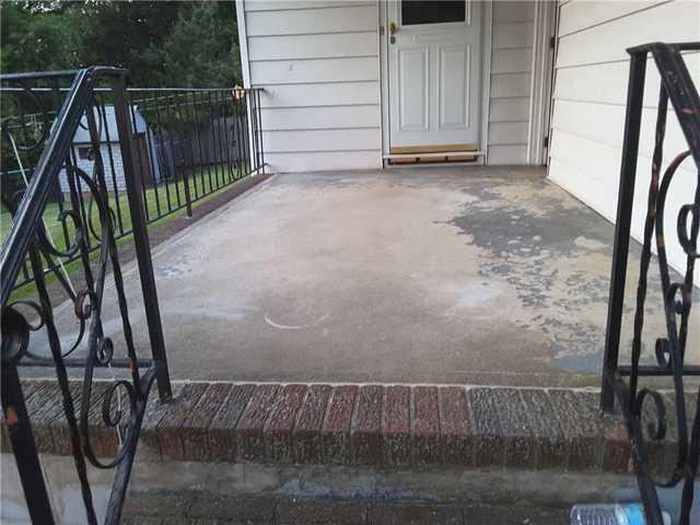 Front Porch Concrete Settlement in Franklin, NJ
