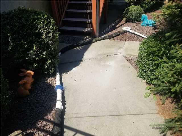 Walkway Leading to Pool Settlement in Millstone, NJ
