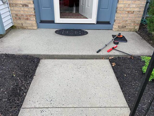Tripping Hazard In Front Of Home Removed in Robbinsville, NJ!