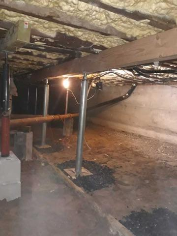 Crawl Space Beams Installed Give Additional Support in Brooklyn, NY