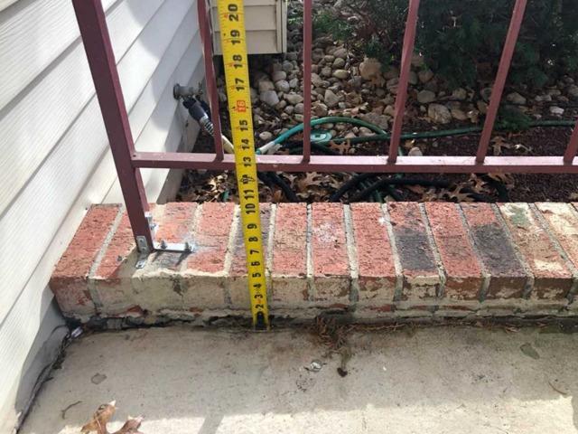 Front Concrete Porch Slab Raised Manalapan, NJ