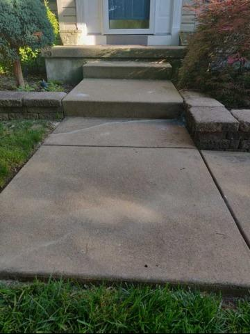 Lumberton, NJ Concrete Walkway Raised