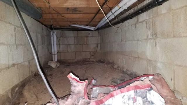Nasty Crawl Space Repaired in Morganville, NJ