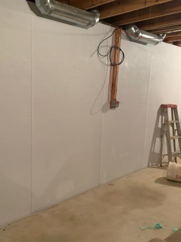 Cleaner, Brighter Basement Walls Installed in Marlboro, NJ