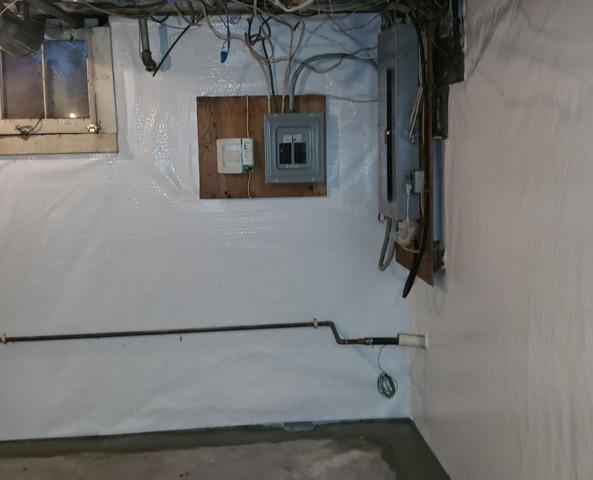 Brightening Up Flaking Cement Block Basement Walls in Red Bank, NJ