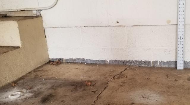 Lifting a Sinking Garage Floor - Chatham Township, NJ