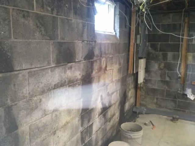 Bowing Basement Wall in Freehold, NJ