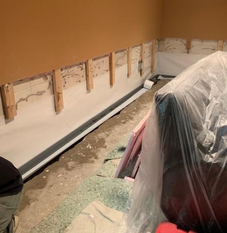 Waterproofing and Half-Wall Restoration in Hamilton Township, NJ
