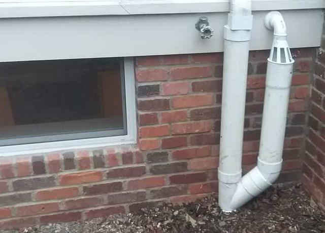 Downspout extension and Sump Discharge in Chatham, NJ