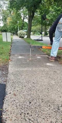 Toms River Sinking Sidewalk Raised