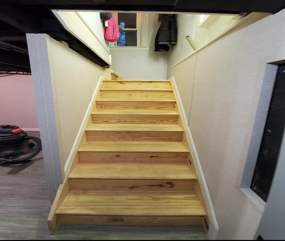 New Finished Basement Stairs in Cedar Grove, NJ