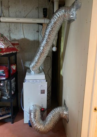 Ducting a SaniDry Dehumidifier into a Finished Basement Space - Freehold, NJ
