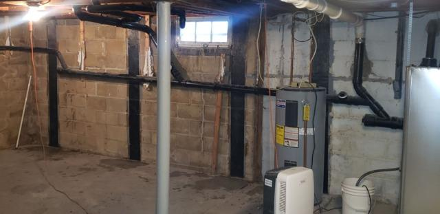 CarbonArmor Straps to Strengthen a Block Basement Wall - Brick, NJ