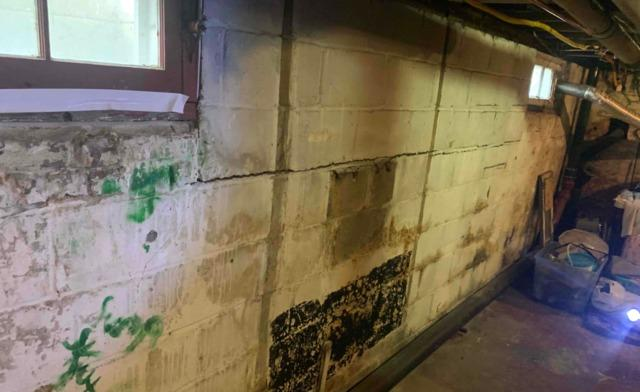 Interior Low-Profile Solution for Bowing and Cracking Basement Wall in Spring Lake, NJ