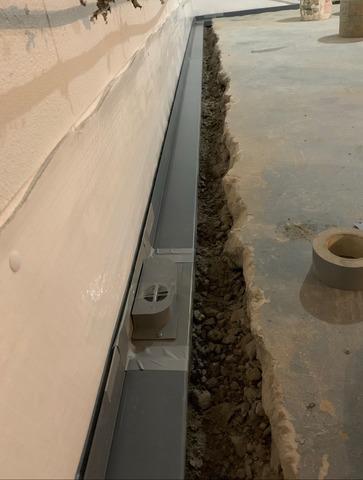 Basement Waterproofing Installation in Flemington, NJ
