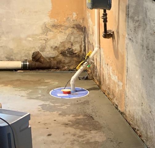 Basement Waterproofing System Installation in Metuchen, NJ