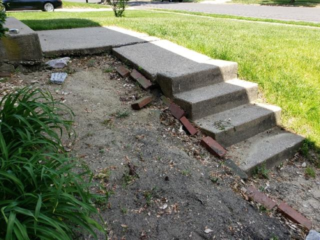 Concrete Repair on Stairs in Marlton New Jersey