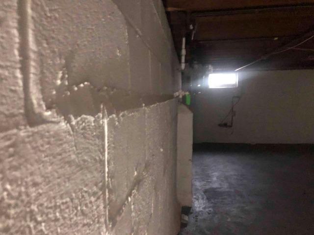 Foundation Wall Stabilized in Branchburg, NJ
