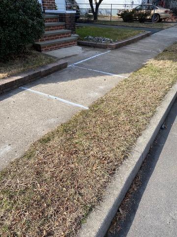Concrete Sidewalk Raised in Trenton, NJ