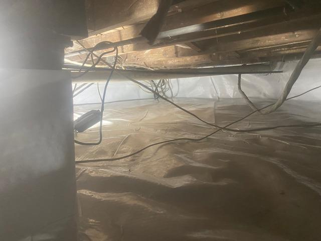 Wet Crawl Space Sealed in Denville, NJ