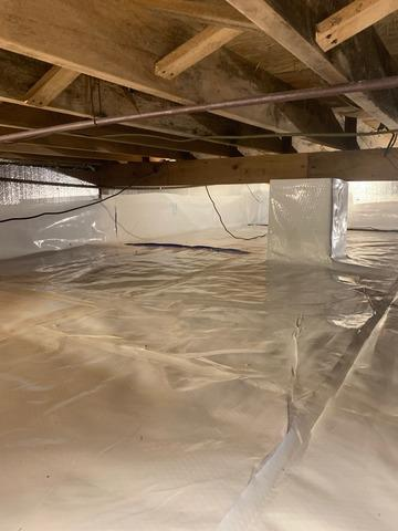 Crawl Space Sealed in Brick, NJ