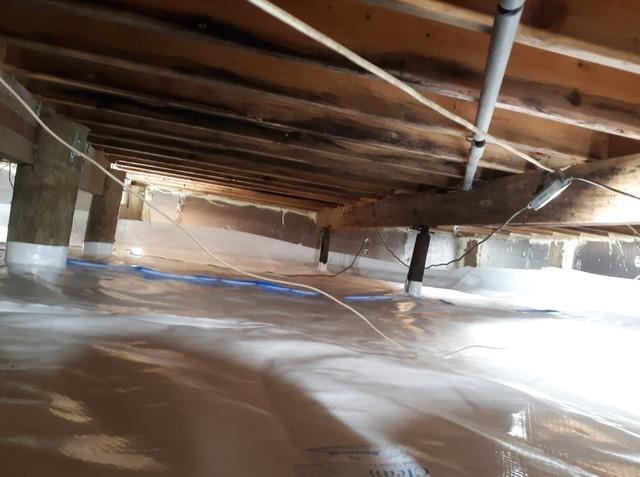 Crawl Space Moisture Barrier Installation in Bayville, NJ