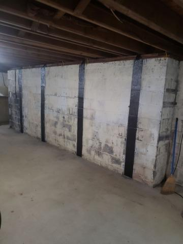 Foundation Wall Stabilized in Mount Laurel, NJ - After Photo
