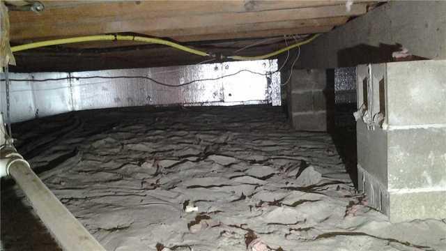 Nasty Crawl Space Repaired in Beachwood