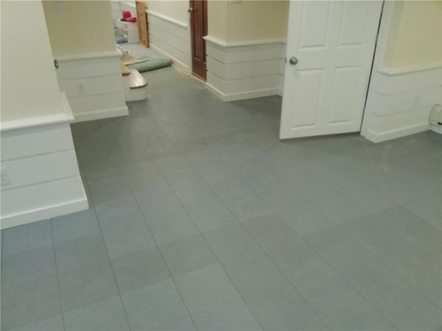 Basement Sub Floor Tiles Installed in Cookstown, NJ - After Photo
