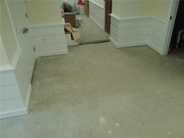 Basement Sub Floor Tiles Installed in Cookstown, NJ - Before Photo
