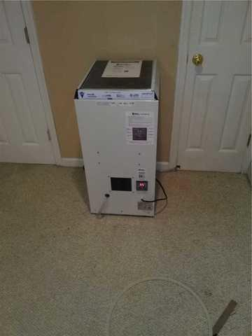Energy Efficient Basement Dehumidifier Installation for a Finished Basement in Westwood, NJ