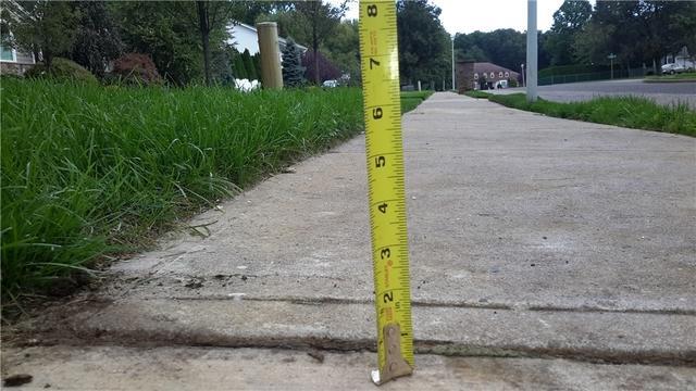 Concrete Sidewalk Raised in Lakewood, NJ