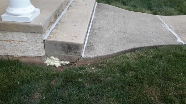 Concrete Step Fixed with PolyLevel in Flemington, NJ