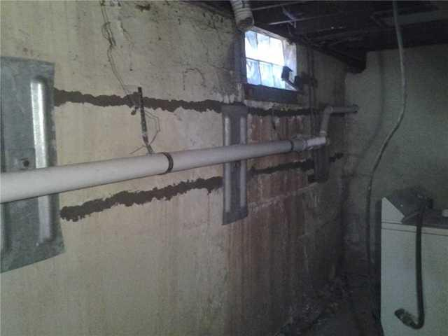 Bowing Basement Walls Repaired in Ewing, NJ