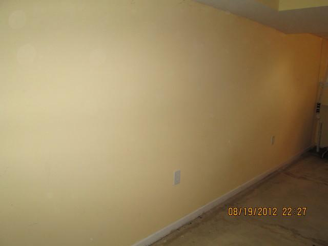 Half Wall EverLast Restoration for a Finished Basement - Before Photo