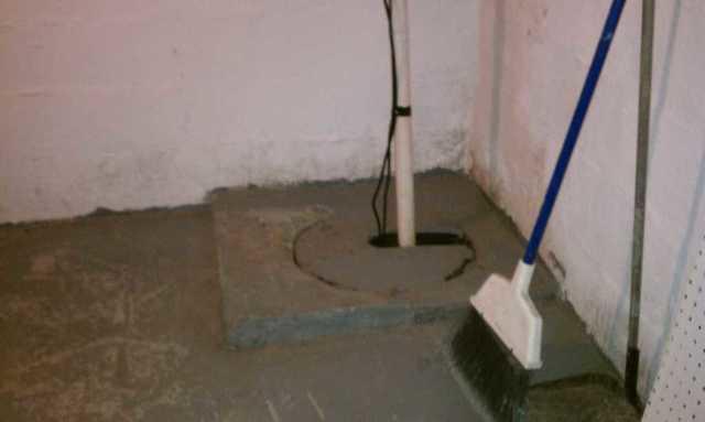 New Sump Pump Keeps Lyndhurst, NJ Basement Dry