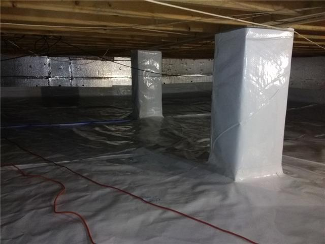 Moisture-Free Crawl Space in Cherry Hill, NJ