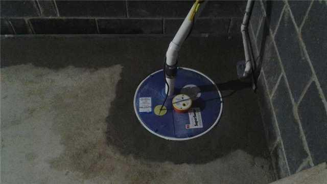 Sump Pump Keeps Water Out of this Basement