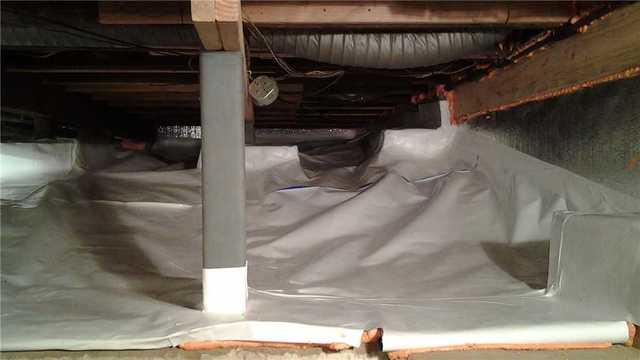 Moisture Removal in Allendale Crawl Space