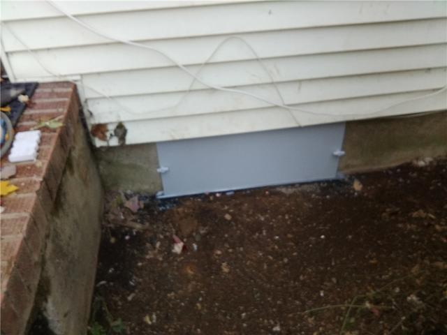 Waterproof Crawl Space Door Install in Liberty Corner, NJ