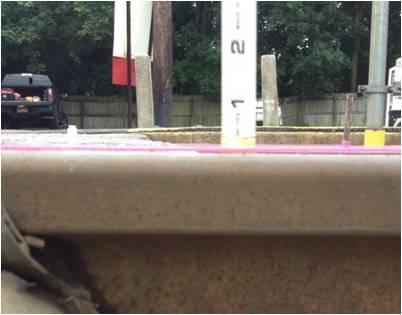 Sunken Concrete at Gwynedd Train Station  - After Photo