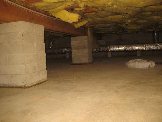 Healthy, Dry Crawl Space in Florham Park, NJ